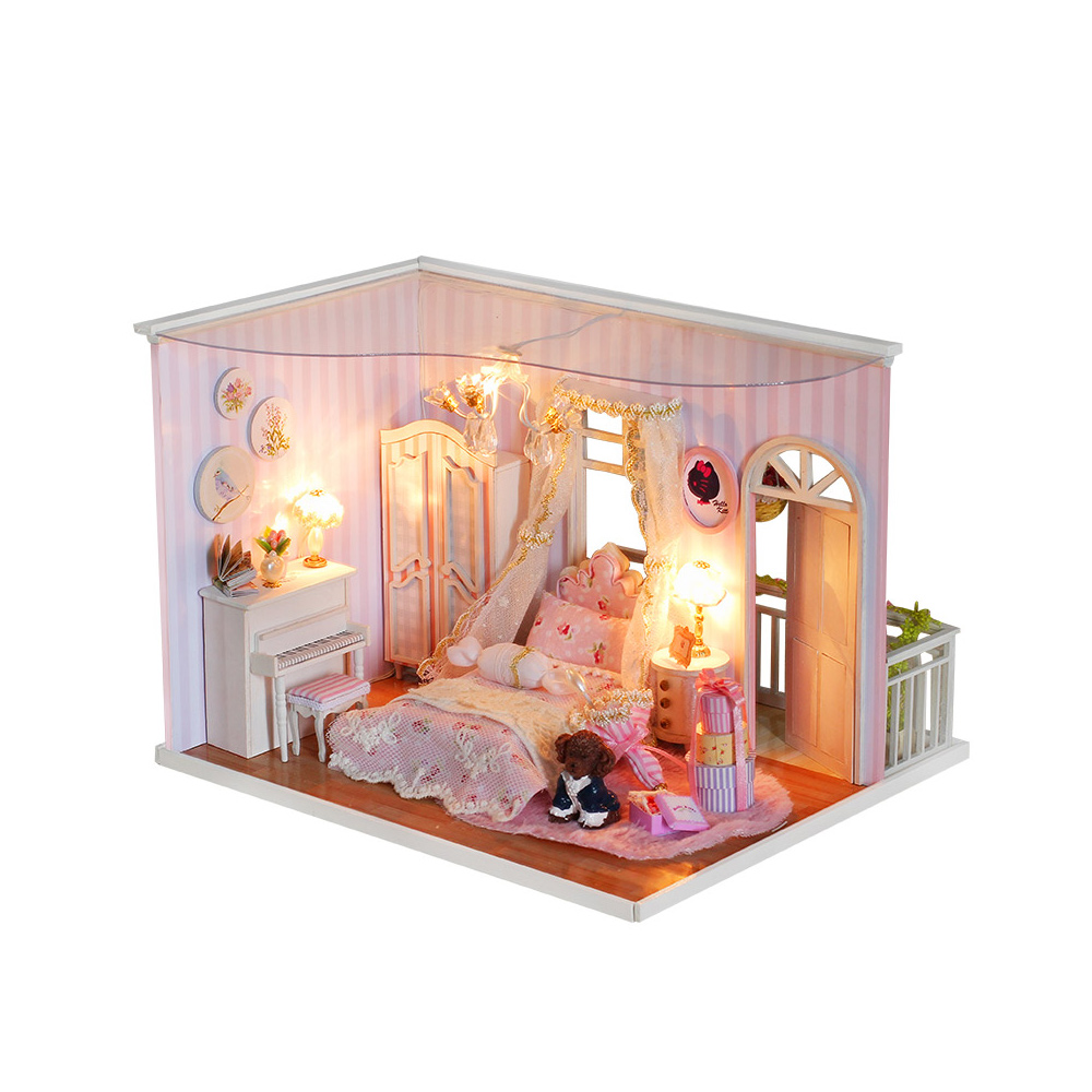 Diy Wooden Doll House Furniture Kits Toys Handmade Craft Model