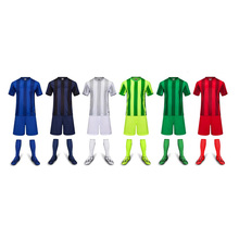 boy summer  training short sleeve jersey breathable running sets sportswear soccer team football kitsDIYlogo girls children new