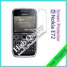 3pcs For Nokia E72 Clear Glossy Screen Protector, Screen Protective Film For Nokia E72 With Cloth