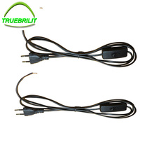 1.8m On Off Power Cord with Switch on line Cable For LED Lamp EU Plug Light Switching 2pcs/lot