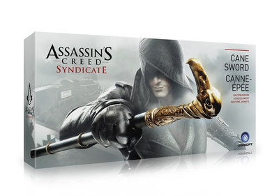 Assassins Creed Syndicate Sword Cane Cosplay Weapon Jacob Frye Cane 1 To 1 Pirate Hidden Blade New In Box Toy<br>