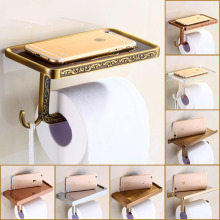 multi-choices Luxury Toilet Paper Holder Wall Mount Bathroom Kitchen Roll Paper Tissure Rack(China)