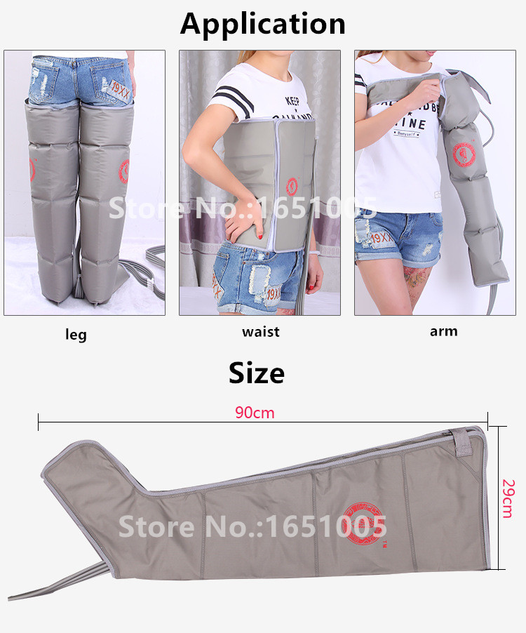 Air Pressure Massaging Machine Whole Body Massager Release Edema Varicosity Myophagism Body With Free Arm and Leg Sleeve Aliexpress promotion (3)