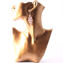 Necklace Earring Display Stand Jewelry Show Figure Mannequin Model Gold