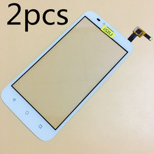 2pcs Wholesale Touch Screen For Huawei Y625 Mobile Phone Touch Panel Glass Digitizer Sensor Repair Black White NO LCD DISPLAY(China)