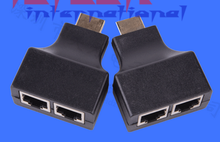 by dhl or ems 100sets HDMI Dual RJ45 CAT5E CAT6 UTP LAN Ethernet HDMI Extender Repeater Adapter 1080P For HDTV(China)