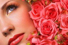 Rose Buds Face Make Up irl Fantasy Fabr Silk Poster Print Home Decoration B1101-6