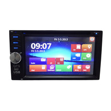 Newest 2 Din 7 Inch Universal Car Radio Navigation  Car DVD Player Hands-Free With Remote Stereo Video GPS Built-in Bluetooth
