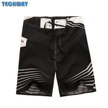 Whosale 2017 New Hot Mens Shorts Surf Board Shorts Summer Sport Beach Homme Bermuda Short Pants Quick Dry Silver Boardshorts(China)