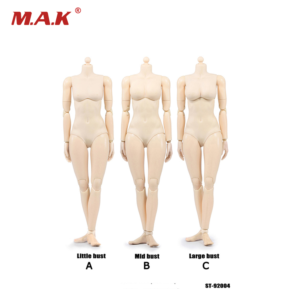 1/6 Scale 12 Inches Xing Series Female Figures Bodies European White Color Movable Joints PVC Small Mid and Large Busts<br>