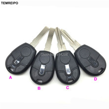 New style Replacement Car Key For Fiat transponder Key Shell no chip key blank fob with logo