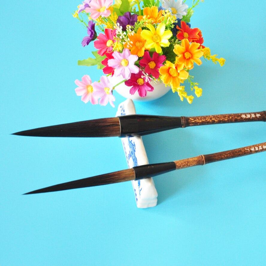 2pcs/pack Bear Hair Chinese Calligraphy Brush  Artist Painting Brush Pen Chinese Ink Brush Writing Brush Pen Mo Bi<br>
