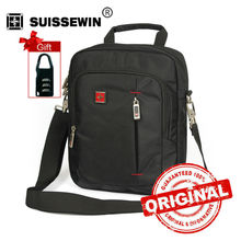 Swisswin Casual Men's Daily Shoulder Bag Small Messenger Bag for Ipad, purse and phones Brown Black Crossbody Bag Women SW5055V