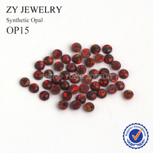 Factory Price 2.0mm~10mm Round Cabochon Cut Synthetic OP15 Loose Opal Stone(China)