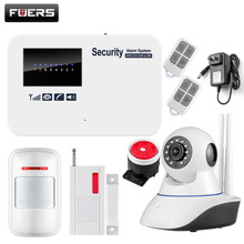 Fuers Disarm IOS Android APP Control Auto Dial Home Security Smart English Russian GSM Alarm System With WiFi Camera
