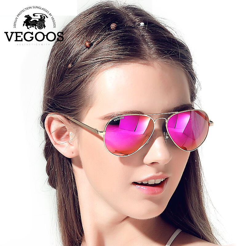 VEGOOS Hot Sales New Sunglasses Women Men Aviation Polarized Flash Mirrored Lens UV Protection Sun Glasses Oculos De Sol #3025W<br><br>Aliexpress