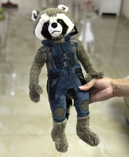 1pcs 45cm 17.7'' Original Rocket Racoon character Plush Toys Doll For kids Gifts birthday gift toys