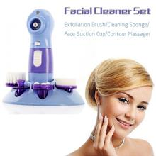 4 in 1 Electronic Facial Pore Cleaner Nose Blackhead Cleansing Acne Remover Vacuum Comedo Suction Tool Skin Care Massage Beauty