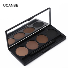 Ucanbe Professional Eyeshadow Eye Brow Makeup 4 Colour Eyebrow Powder Palette With Double Ended Brush Eye Shadow Make Up Kit Set