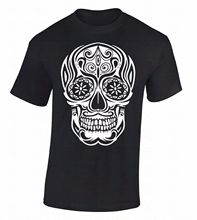 High Quality Personality O-Neck Men White Sugar Skull Day Of Dead Dia De Los Muertos Death Gothic Novelty Short Sleeve Tees