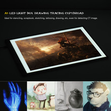 Portable A4 LED Light Box Drawing Tracing Tracer Copy Board Table Pad Panel Copy board with Stepless Function Brightness Control(China)