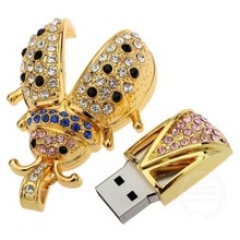 Transcend beautiful crystal Beetle usb 2.0 pendrive 4GB 8GB 16GB memory stick usb flash drives(China)