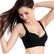 Women Bra Lace Side Support Plunge Underwire Push Up Bra Size 32-40C Best Good Quality(China)