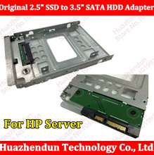 "For HP  ProLiant Server New 654540-001 2.5"" SSD to 3.5"" SATA Hard Disk Drive HDD Caddy Adapter Free shipping"
