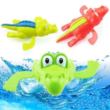 New Cute Baby Bath Toys piscine Wind-Up Clockwork Animal Baby Shower Swimming Pool Toy Accessories For Children Kids Gift
