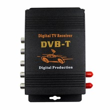 M-618 Car TV Tuner DVB MPEG-4 double antenna Digital TV BOX Receiver Mini TV Box work in Europe,Middle East , Australia(China)