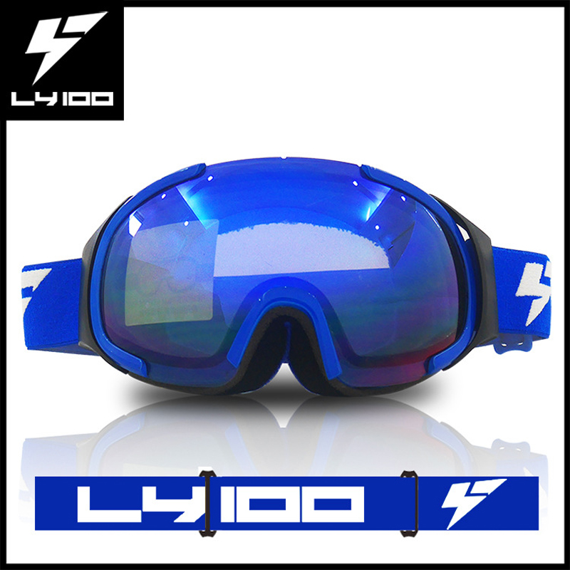 Newest LY100 Cycling Glasses ski goggles double UV400 anti-fog big ski mask glasses skiing men women snow snowboard goggles<br><br>Aliexpress
