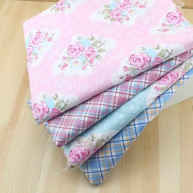 50*40cm 4ps/lot rhombus figure jacquard twill 100% cotton fabric for Quilting patchwork,DIY Handwork Sewing Bedding Home textile(China)