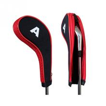 10pcs/set Washable Sleeve Neoprene Golf Club Iron Putter Headcovers Head Cover Protect Case Pocket Red Black(China)