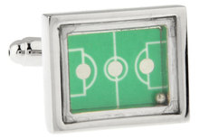 New football field design Fashion Cufflinks  green color copper material cufflink whoelsale&retail free shipping