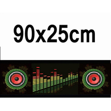 90*25cm 3D Car Styling LED EL Sheet Music Sticker Light Auto Sound Music Rhythm Activated Equalizer EQ Lamp Flash Panel Lights