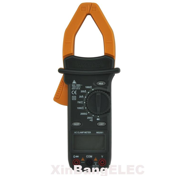 Digital AC Clamp Meter AC/DC Current Voltage Resistance Tester AC/DCV Ohm 1000A Test<br>
