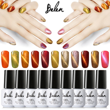 Belen UV LED Cat Eye Nail Gel Polish Shining Color Soak Off Varnish Cheap Manicure Glitter Polish UV Color Gel Magnet Polish Set(China)
