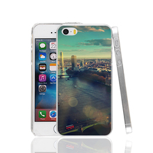 23802 England London Skyview City Flare Big Ben cell phone Case Cover for iPhone 4 4S 5 5S 5C SE 6 6S Plus 6SPlus