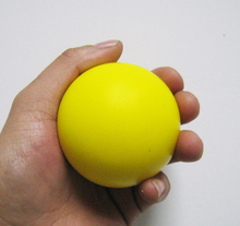 pu foam material yellow stress ball,pu round ball,children toy,squeeze ball,relax ball(China)