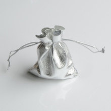50pcs/Bag Adjustable Jewelry Packing Silve Gold Color Drawstring Velvet Bag 7x9cm,Wedding Gift Bags & Pouches