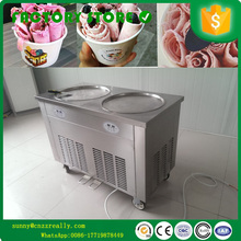 Refrigerant R410A environmental protection Wholesale price flat pan commercial ice making machine foot pedal defrost ice pan