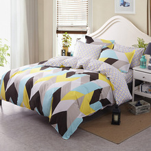 Illucity Giant chevron Nordic bedding set king queen double single size bed linen set