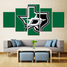 Dallas STARS 5 Panel Canvas Art Painting Spray Printings Super D Basketball Wall Pictures Home Decoration Paint Waterproof