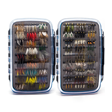 180 pcs Wet Dry Nymph Fly Fishing Flies Set Fly Lure Kit hand tied Flies for Trout Pike grayling(China)