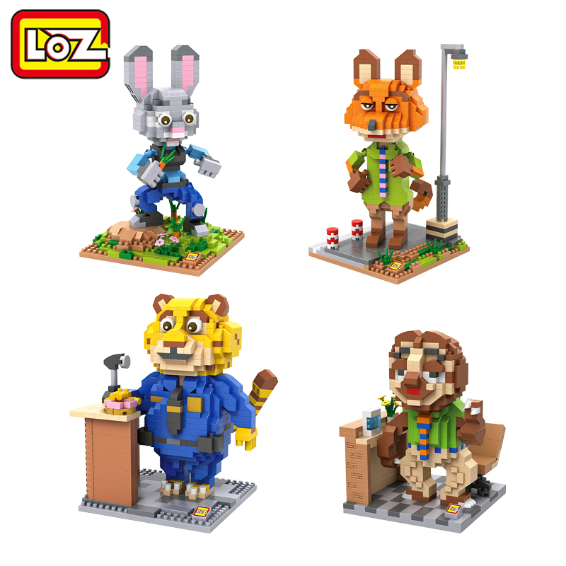 LOZ Blocks Cartoon Zootopia Building Block Red Fox Nick Kawaii Rabbit Judy Anime Figure Kids Toys Christma Gift for Children<br><br>Aliexpress