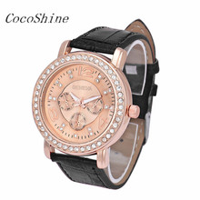 CocoShine A-666 Fashion Women Fashion Luxury Rhinestone Crystal Analog Quartz Wrist Watch!Support wholesale wholesale(China)
