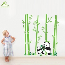 Bamboo Panda DIY Vinyl Wall Stickers Home Decor Art Decals Design 3D Wallpaper Bedroom Sofa house decoration adesivo de parede