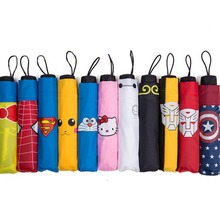 Children Umbrella  Creative Carton Superhero Color Umbrella Child Long Umbrella/Rain Umbrella