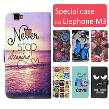 Buy Fashion cartoon printed flip wallet leather case Elephone M3 Card Slot phone bag book case,free gift for $3.99 in AliExpress store