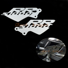 For BMW S1000RR 2010 2011 2012 2013 2014 Silver Foot Peg Heel Plates Guard Protector Motorcycle Accessories